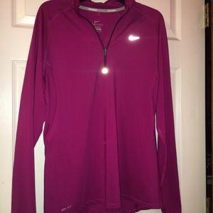 Pink Nike quarterzip Dry-fit jacket size XL